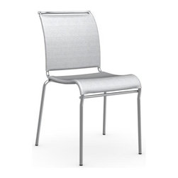 Calligaris - Calligaris Air Kitchen Chair - Air is the perfect chair to complete your kitchen. The seat and backrest are made from Net mesh, a synthetic washable breathable material for maximum comfort. Stackable, lightweight and sturdy thanks to the metal frame, Air is available in a range of different finishes. Stackable up to 4 high.