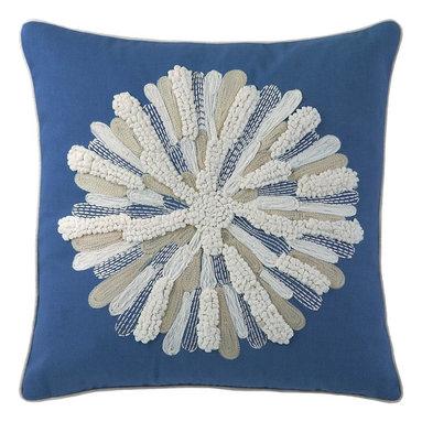 Asters Pillow, Capri Blue -
