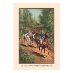 """Buyenlarge.com, Inc. - U.S. Army General and Staff Officers, 1812 - Paper Poster 12"""" x 18"""" - Another high quality vintage art reproduction by Buyenlarge. One of many rare and wonderful images brought forward in time. I hope they bring you pleasure each and every time you look at them."""