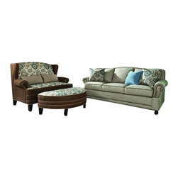 Chelsea Home Furniture - Chelsea Home 3-Piece Living Room Set in Golden Shoal Sand with Accent Pillows - Cornell 3-Piece living room set in Golden Shoal Sand with Accent Pillows belongs to the Chelsea Home Furniture collection