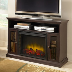 Pleasant Hearth - Pleasant Hearth Riley Media Cabinet with Electric Fireplace Multicolor - 238-04- - Shop for Fire Places Wood Stoves and Hardware from Hayneedle.com! The Pleasant Hearth Riley Media Cabinet with Electric Fireplace is an easy-to-assemble unit that offers dual functionality as a source of incredible warmth and convenient organization for games movies music and more. This solid wood cabinet in rich espresso finish features two glass door cabinets with adjustable shelving and a glowing LED ember bed for added ambiance. The fireplace comes with 3 realistic flame settings 10 timer settings 10 heat temperature settings and can efficiently heat any home or office environment up to 400 square feet in size.About GHP GroupGHP Group creates electric fireplaces accessories log sets and other heating options found in homes across America. With years of experience and a close attention to detail their products exceed industry standards of safety quality durability and functionality. Whether you're warming a room or just making a relaxing glow there's a GHP Pleasant Hearth product for you.