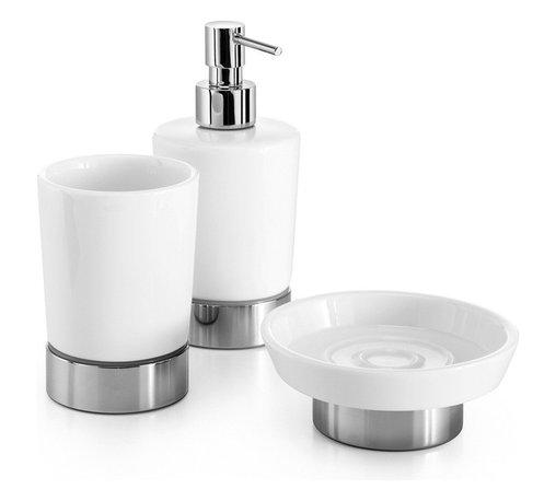 WS Bath Collections - Saon Bathroom Accessory Set, Polished Chrome - Features: