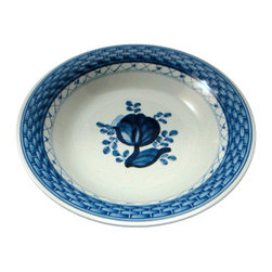 Royal Copenhagen - Royal Copenhagen Tranquebar-Blue Fruit/Dessert (Sauce) Bowl - Royal Copenhagen Tranquebar-Blue Fruit/Dessert (Sauce) Bowl