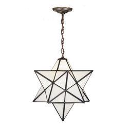 "Meyda Lighting - Meyda Lighting 21842 18""W Moravian Star White Pendant - Meyda Lighting 21842 18""W Moravian Star White Pendant"