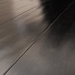 """Vanier - Vanier Engineered Hardwood - Handscraped Hevea Collection - [13.1 sq ft/box] - Ebony / 9/16""""x4 3/8""""x48"""" -Vanier Hardwood Engineered Floooring offers a richly colored and elegantly contoured line. Made to reflect the beauty of each species, Vanier has designed an engineered floor that will adorn any suitable interior for years to come. Complete with a residential 25 year finish warranty confidence in durability and look are a given. Vanier's line of engineered hardwood floor offers toughness and elegance in equal measure."""