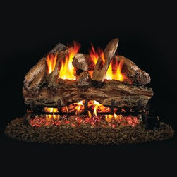 Real Fyre Red Oak Vented Gas Log Set - The Real Fyre Red Oak Vented Gas Log Set brings the unique texture and color of Red Oak to your indoor direct vent fireplace. This hand-painted refractory ceramic log set is modeled from real wood samples, with realism, texture, and nuance straight from nature. They burn efficiently while protecting natural resources and reducing pollution, providing real radiant heat for your home. Each is supported by steel rods in the center, and artfully placed about a steel burner and powder-coated grate. Choose 18 or 24 inches to fit your standard direct vent fireplace Choose propane or natural gas power source Silica sand and platinum embers included with every model Optional pilot kit and remote control Manufacturer's lifetime warranty included Heating Output Propane 18-inch: 45,000 BTU Propane 24-inch: 65,000 BTU Natural gas 18-inch: 70,000 BTU Natural gas 24-inch: 90,000 BTU Note: It is recommended that you use a professional installer to ensure the safety of the exhaust system. A licensed contractor should be contacted for installation of all products involving gas lines. About Real FyreReal Fyre understands more about the amazing things that happen when flame and good food meet. For the last 70 years, they've set out to create the singularly best way to cook food outdoors, using the highest-quality materials, innovative design, and an absolutely relentless pursuit of perfection. With a complete line of luxury-grade grills, burners, accessories, and built-in grill island components, Real Fyre is ready to turn your home into the world's best outdoor kitchen.