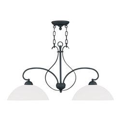 Livex Lighting - Livex Lighting 4782-04 Island - Glass Type/Shade Type: Hand Blown Satin Opal White Glass
