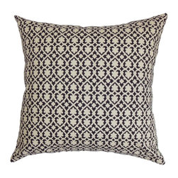 "The Pillow Collection - Orlaith Geometric Pillow Black White - Provide a sleek and contemporary touch to your living space with this decor pillow. This accent pillow features an elaborate geometric pattern in black and white hues. This throw pillow makes a perfect statement piece in your living room, bedroom or kitchen. For a modern twist, pair this square pillow with a matching pattern or solids. This 18"" pillow is made with 100% soft cotton fabric, which promises comfort and style. Hidden zipper closure for easy cover removal.  Knife edge finish on all four sides.  Reversible pillow with the same fabric on the back side.  Spot cleaning suggested."