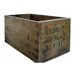 Old Wooden Tool Crate - Cool old vintage tool crate. We like it re-purposed as a planter in the garden or on the porch filled