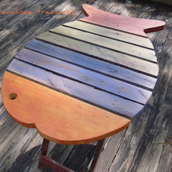 Wooden Fish Table Multicolor By Tenahsee Treasures - A handmade fish table would be so unexpected as a dining table!