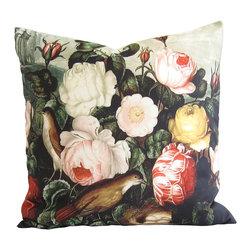 "Poetic Pillow - Roses - Robert John Thornton, Poetic Pillow - • 20"" X 20"" square pillow"