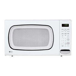 LG - LG LCS1410SW White 1.4 Cu ft Countertop Microwave Oven (Refurbished) - Add a modern touch to your kitchen with this white LG microwave oven,ideal for families and couples. Its curved interior means it has plenty of space for your large kitchenware and its great for parents or young professionals on the go.
