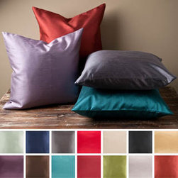 Decorative Chic Square Feather Fill Pillow -