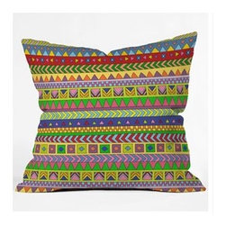 """DENY Designs - Bianca Green Forever Young Throw Pillow - Wanna transform a serious room into a fun, inviting space? Looking to complete a room full of solids with a unique print? Need to add a pop of color to your dull, lackluster space? Accomplish all of the above with one simple, yet powerful home accessory we like to call the DENY Throw Pillow! Features: -Bianca Green collection. -Material: Woven polyester. -Sealed closure. -Spot treatment with mild detergent. -Made in the USA. -Closure: Concealed zipper with bun insert. -Small: 16"""" H x 16"""" W x 4"""" D, 3 lbs. -Medium: 18"""" H x 18"""" W x 5"""" D, 3 lbs. -Large: 20"""" H x 20"""" W x 6"""" D, 3 lbs."""
