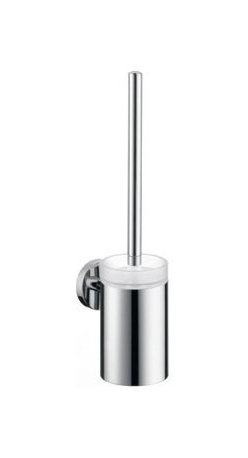 Hansgrohe - Hansgrohe 40522000 Chrome S and E Accessories E and S Accessories - E and S Accessories Toilet Brush Wall Mounted with Holder and Glass CupSolid brass holder Glass cup Brush with durable nylon bristles