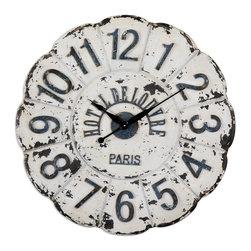Uttermost - De Louvre White Wall Clock - De Louvre White Wall Clock