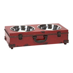Benjamin Truck Pet Dog Feeder - *This old world inspired trunk shaped pet feeder is a must have for any pet owner. It's traditional look pairs well with any home.