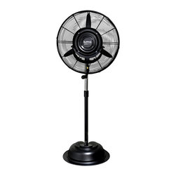 Luma Comfort - Luma Comfort 24-inch Patio Misting Fan - Enhance your enjoyment of your patio,porch,or deck with this handy outdoor patio misting fan. This commercial-grade oscillating fan works to make the air more comfortable for an 800-square-foot area,and is equipped with an adjustable mist feature.
