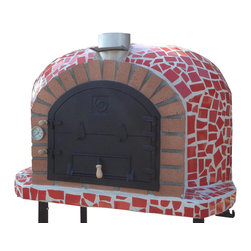Outdoor / Garden Wood Fired Pizza Oven w/ Mosaic, Cast Iron Door, Insulation, Re - Wood Fired Pizza Oven with Mosaic Tiles and Cast Iron Door!