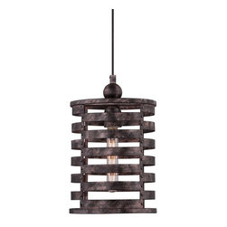 Rustic Burnished Silver Pendant - Quoizel Nikos CKNK1509BV - ORDER ON HOUZZ TODAY FROM LEE LIGHTING.
