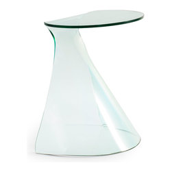 ZUO MODERN - Quest Side Table Clear Glass - Quest Side Table Clear Glass