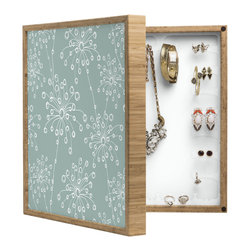 DENY Designs - Rachael Taylor Quirky Motifs BlingBox Petite - Handcrafted from 100% sustainable, eco-friendly flat grain Amber Bamboo, DENY Designs BlingBox Petite measures approximately 15 x 15 x 3 and has an exterior matte cover showcasing the artwork of your choice, with a coordinating matte color on the interior. Additionally, the BlingBox Petite includes interior built-in clear, acrylic hooks that hold over 120 pieces of jewelry! Doubling as both art and an organized hanging jewelry box, It's bound to be the most functional (and most talked about) piece of wall art in your home! Custom made in the USA for every order.