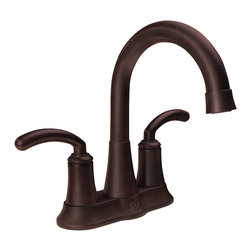 "MR Direct - MR Direct 7042 Two Handle Lavatory Faucet, Oil Rubbed Bronze - The 7042-C Two Handle Lavatory Faucet is made with solid brass waterway construction and is available in a brushed nickel, oil-rubbed bronze or chrome finish. It works great with overmount and undermount bathroom sinks and is ADA approved. A matching pop-up drain is included with this faucet that will have a corresponding finish. The dimensions for the 7042-C are 8 1/2"" Tall x 7 5/8"" Spout. This faucet is pressure tested to ensure proper working conditions and is covered under a lifetime warranty. The 7042-C has a modern look with classic lines that are sure to enhance the look of your bathroom sink."