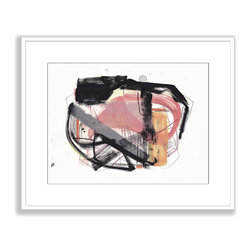 Gallery Direct - Jaime Derringer's 'Conceptualize' Framed Paper Art, 30x25 - This striking, contemporary artwork by artist Jaime Derringer comes framed and matted with a three inch white mat. The perfect way to add character, depth and value to your room, it is printed using the highest quality materials. Arrives ready to hang.