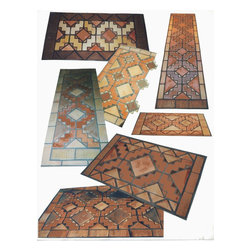 tiled rug kits - Tiled rug kits or and installations by patrick trotter made any size needed.   Walls Floors indoors or out............