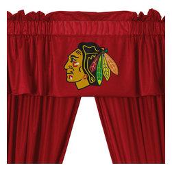 Store51 LLC - NHL Chicago Blackhawks 5pc Window Drapes Valance Set - FEATURES: