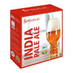 Spiegelau - Spiegelau Craft Beer IPA Glassses, set of 2 - Do better by your brew! Pour your potable of choice into these rib-bottomed beer glasses for an experience more stylish than any stein.