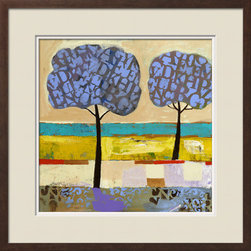 Artcom - Lake View by Nathaniel Mather Artwork - Lake View by Nathaniel Mather is a Framed Giclee Print set with a CHELSEA Espresso wood frame and Seashell and Polar White matting.
