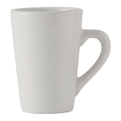 Tuxton - DuraTux 8 oz Alpine Mug White - Case of 24 - DuraTux offers the widest selection of ceramic ovenware and accessory items in the industry. Our products are designed to handle the demands of any fastpaced environment  without breaking your budget. As with our dinnerware products all our ovenware items are fully microwavesafe, ovenproof, and dishwasherfriendly. With over 30 mugs available we can supply the right mug for your establishment.