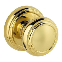 Baldwin Hardware - Prestige Alcott Dummy Knob in Polished Brass (351Atk Rdb 3 Cp) - Baldwin has a 60 year legacy of craftsmanship and innovation. Rated #1 in quality by builders and contractors, Baldwin is pleased to offer a line of luxury hardware for the discriminating consumer, our Prestige Series.