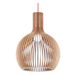 ParrotUncle - Modern Bentwood Ceiling Pendant Lighting Lamp, Medium - Bring an industrial-chic look to your lighting with this pendant lighting, crafted from factory-reclaimed wood.