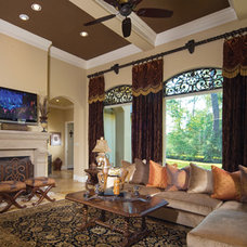 Eclectic Living Room by Woodlands Fabrics and Interiors