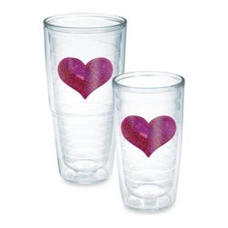 Tervis - Tervis Sequin Heart Tumbler in Pink - A colorful, sequined heart adorns this beautiful tumbler. Makes a perfect gift for that special person in your life. The tumbler also features a double-wall construction and insulation that keeps hot drinks hot and cold drinks cold.