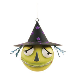 C & F - Zaldez Halloween Head Ornament - This colorful ornament is the perfect Halloween combo of cute and creepy; hang it above your kitchen window, give it as a party prize to a lucky little trick-or-treater or start a new family tradition of a Halloween tree! �� 4.75'' W x 5'' H Resin / metal Imported