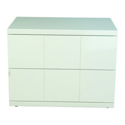 Carl 2 Drawer Small Nightstand - White - Keep all your nighttime essentials conveniently close at hand with the Carl 2 Drawer Small Nightstand - White. Featuring a sturdy engineered wood construction, this nightstand has two drawers and a high gloss white finish to suit any decor.About Whiteline:With a product line that includes prime leather sofas, comfortable beds, and elegant dining room furniture, Whiteline delivers modern and contemporary styles along with cozy comfort. Whiteline has 15 years of experience building furniture, along with a worldwide network of skilled manufacturers to help them give you the best value for your money. And their huge collection of designs is sure to have something to suit your contemporary tastes.