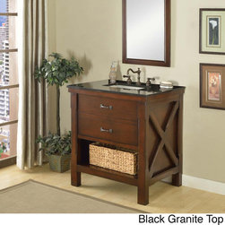 Direct Vanity Sink - 32-inch Espresso Spa Single Vanity Sink Cabinet - This stylish vanity is the pinnacle of a furniture-style bath vanity cabinet. Combined with the casual feel of a cabin,this functional style is perfect for any home decor theme.
