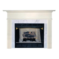 Agee Woodworks Sonata Wood Fireplace Mantel Surround - About this Fireplace MantelThe Agee Woodworks Sonata Wood Fireplace Mantel Surround is characterized by reserved top molding and truncated fluted columns. Adding an exquisite mantel to your fireplace is a certain way to boost a room's friendly ambiance. Assembly is a snap since most of the mantel is complete out of the box. Because this fireplace mantel ships unfinished the finishing choices are left up to you. Paint or stain it to perfectly match the hearth walls or woodwork in your fireplace room. Choose between birch or oak solids in a wide selection of custom-cut sizes.About Agee Woodworks Inc.Ashland Va.'s Agee Woodworks Inc. focuses on three key manufacturing aspects: service quality and customization. Each handcrafted Agee fireplace mantel is made to order by one specific craftsman - and with a variety of value and custom options there's one for every budget. The highest-quality materials used - and individualized construction process during which a mantel's legs header and shelf are applied to a specified-size frame - ensure long-lasting one-of-a-kind products. Mantels can be primed painted or stained before delivery or can be shipped unfinished so customers can finish them at home.