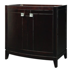 "DecoLav - Decolav 5242-ESP Gavin Vanity in Espresso - Decolav 5242-ESP Gavin Vanity in EspressoDECOLAV's Gavin 36""Wx21.5""Dx35.25""H Vanity in Espresso has dynamic edges and strong lines setting this vanity collection apart. Soft closing hinges are used for a smooth secure close. The elegant hardware included add an extra function and style creating an overall visual masterpiece to this collection. The trend setting design of this collection is ideal for any decor.Decolav 5242-ESP Gavin Vanity in Espresso, Features:&#149 Part of the Gavin Modular Collection"
