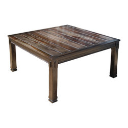 rustic solid wood transitional 64 square dining table for 8 a large