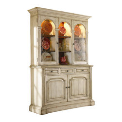 Hooker Furniture - Hooker Furniture Summerglen 62 Inch Buffet and Hutch in Antique White - Hooker Furniture - Buffet Tables and Sideboards - 47975900901KIT