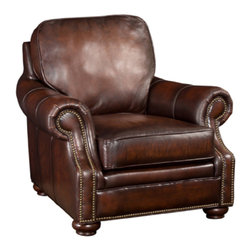 Hooker Furniture - Hooker Furniture Chair Only SS185-01-08 , Dark Brown - Hooker Furniture Chair SS185-01-089