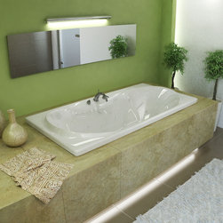 Venzi - Venzi Bello 42 x 72 Rectangular Air & Whirlpool Jetted Bathtub - The Bello rectangular bathtubs are equipped with an oval opening. Two round cockpits are placed on two sides, providing extra back and arm room.