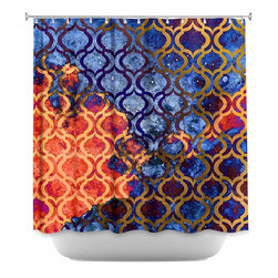 DiaNoche Designs - Shower Curtain Artistic Sky Pattern I - DiaNoche Designs works with artists from around the world to bring unique, artistic products to decorate all aspects of your home.  Our designer Shower Curtains will be the talk of every guest to visit your bathroom!  Our Shower Curtains have Sewn reinforced holes for curtain rings, Shower Curtain Rings Not Included.  Dye Sublimation printing adheres the ink to the material for long life and durability. Machine Wash upon arrival for maximum softness on cold and dry low.  Printed in USA.