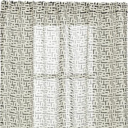 "Sumba Indigo Sheer 48x84 Curtain Panel - Modern ethnic grid strews casual indigo graphics on cream in an open weave of yarn-dyed linen. Light and airy panel works well on its own or as a layer. Curtain accessories are also available.Tips for hanging curtain panels.100% yarn-dyed linen3"" rod pocket, 2"" hemDry cleanMade in India"