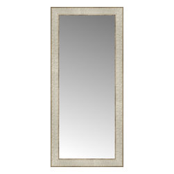 """Posters 2 Prints, LLC - 14"""" x 30"""" Libretto Antique Silver Custom Framed Mirror - 14"""" x 30"""" Custom Framed Mirror made by Posters 2 Prints. Standard glass with unrivaled selection of crafted mirror frames.  Protected with category II safety backing to keep glass fragments together should the mirror be accidentally broken.  Safe arrival guaranteed.  Made in the United States of America"""