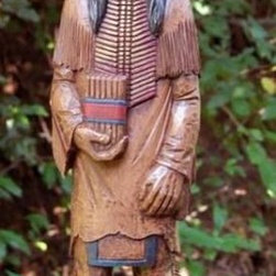 Outdoor Decor - Indian Hand Painted Statue
